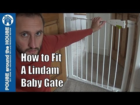 How to fit a Lindam baby gate. Lindam pressure fit safety gate assembly.
