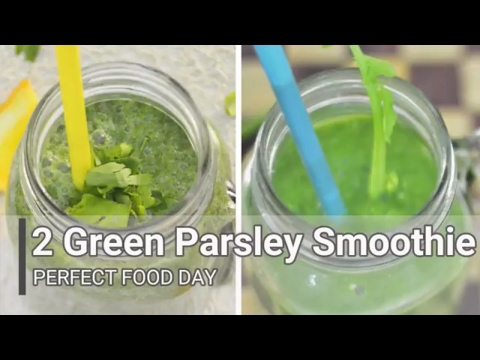2 GREEN PARSLEY BASE SMOOTHIE - smoothie for weight loss , clear skin ,detox & cleanse your colon