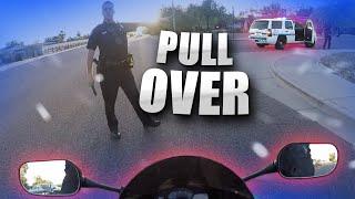 Cop Grabs Biker in the Street!