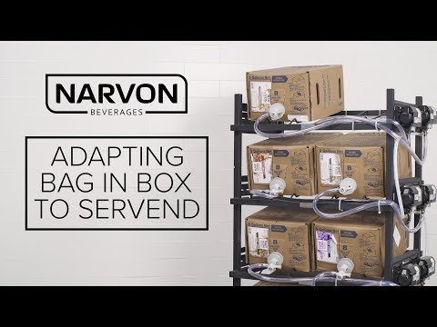 Adapting Narvon Bag in Box Syrups to Servend Beverage Dispensers