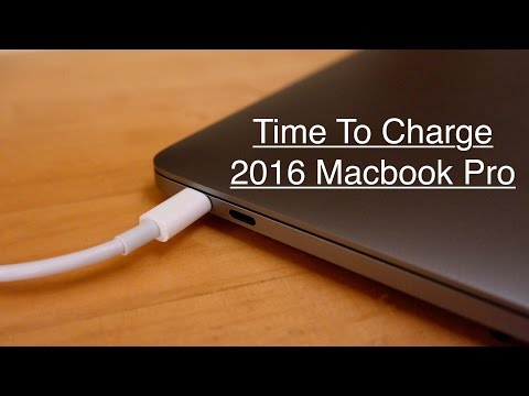 Time to Charge: 2016 MacBook Pro