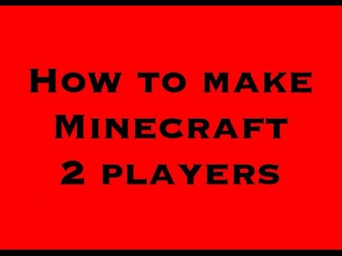 How to make minecraft ps3 2 players