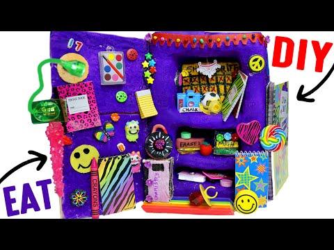 DIY Edible School Locker | EAT Locker Decor, Combination Lock, Books &  Back To School Supplies!