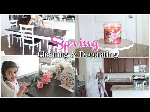 SPEED CLEAN & SPRING DECORATE WITH ME 2018 | CLEANING MOTIVATION