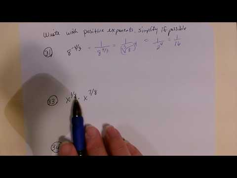 Write with positive exponenets