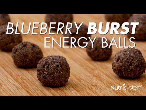 Blueberry Burst Energy Balls