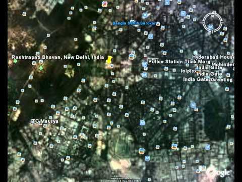 satellite view of delhi google earth HD