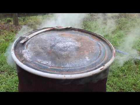 Video How to Make Homemade White Oak Lump Charcoal for Smoker in 55 Gallon Drum