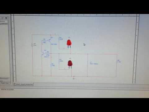 5 volt short circuit protection simulation