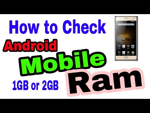 How To Check The Ram Of Your Android Mobile Phone Easy In Urdu Hindi Tutorial