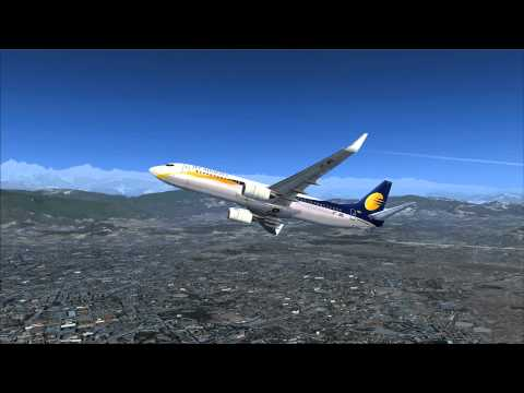 Departure Kathmandu, Nepal in the iFly 737NG (FSX)