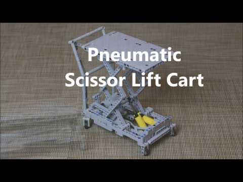 Lego Technic Pneumatic Scissor Lift Cart