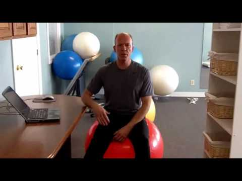 How to Use an Exercise Ball Chair...Plus Standing Desk Tips