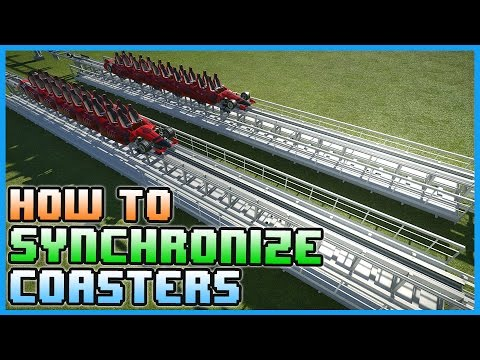 HOW TO: Create Duel Synchronized Coasters! Tutorial #PlanetCoaster