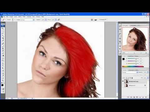 PHOTOSHOP CS4 - How To Change Hair Color In Photoshop