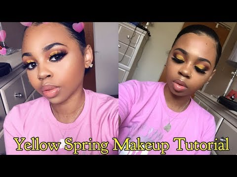 YELLOW SPRING MAKEUP TUTORIAL | CrySTYLE Beauty