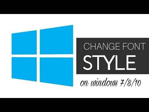 How to Change the Default System Font on Windows 10/8/7