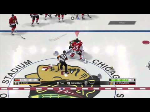NHL 14 Demo: First Goalie Fight and Double Fight