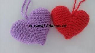 Örgü Anahtarlık Yapımı - Amigurumi Kalp Anahtarlık Yapımı   Tığ ...   180x320