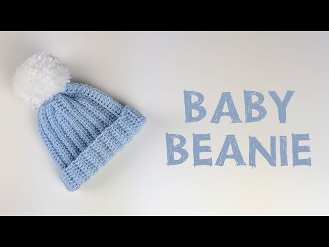 Very Easy Crochet Baby Beanie Tutorial | Croby Patterns