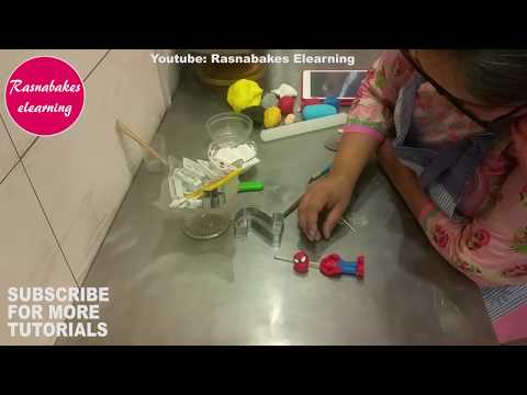how to make 3d spiderman cake topper for cake decoration: Free tutorial