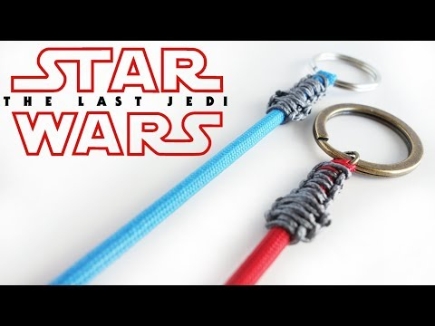 How to Make a STAR WARS Paracord Lightsaber Keychain Tutorial // The Last Jedi