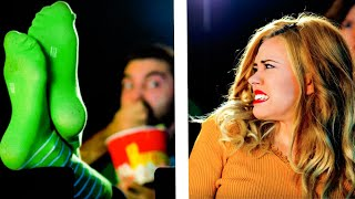 14 TYPES OF PEOPLE AT THE MOVIE THEATER || Relatable comedy by 5-Minute FUN