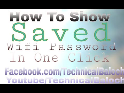 How to Show view Saved wifi password in One click hindi/urdu