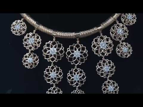 Diamond Necklace Matching to Earrings from Mumbai India to Oxford Uk