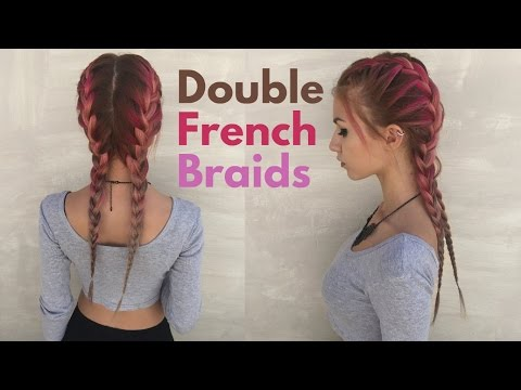 DOUBLE FRENCH BRAIDS For short hair | Stella