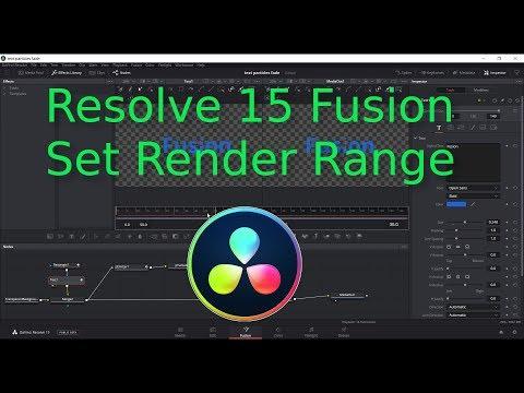 Resolve 15 Beta 2   Set Fusion Render Range