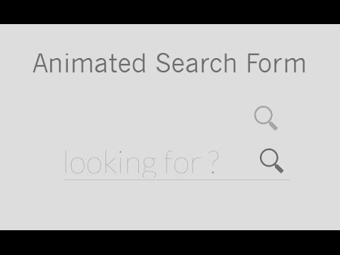 Animated Search box with CSS3
