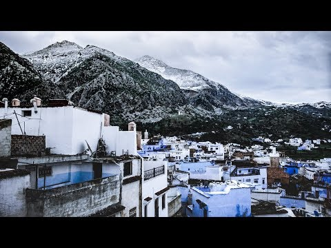 It is snowing in Africa | The Blue City, Morocco Cinematic Vlogs |
