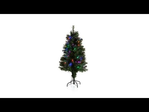 Winter Lane 4' Fiber Optic and LED Lit Christmas Tree