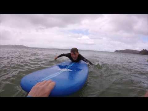 Beginner Surf Lessons at Omaha Beach, Auckland