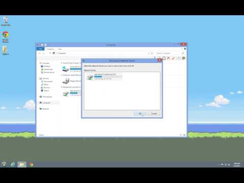 Windows 8 map network drive