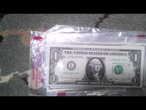 Interesting and odd Serial numbers currency U.S.A. money!