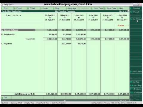 Tally.ERP 9 Advance Feature of Cash Flow
