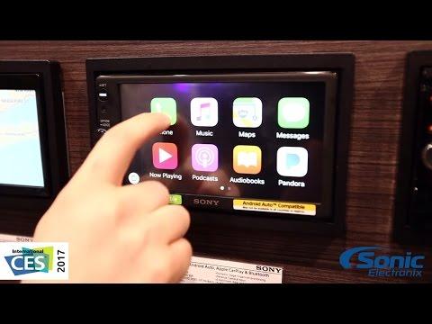 Sony XAV-AX100 Double Din Car Stereo w/ Android Auto & Apple CarPlay   CES 2017