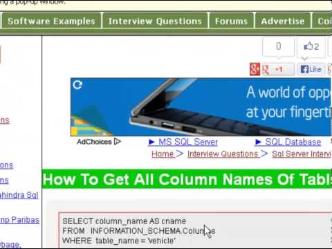 How to get all column names of table in sql server