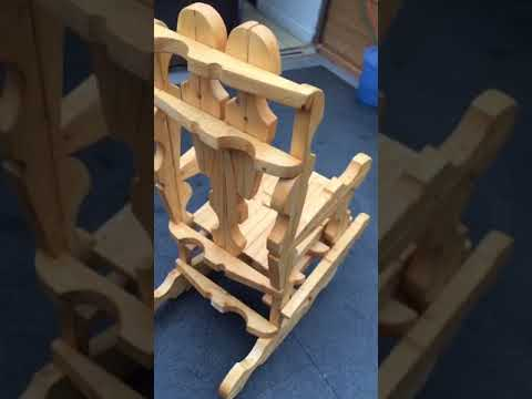 Full size clothes peg rocking chair