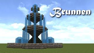 Minecraft Tutorial Brunnen Bauen Build A Fountain