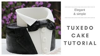 Download Tuxedo cake (How to make a suit cake) Video