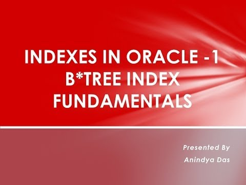B*Tree Index Fundamentals(Indexes in Oracle-1)