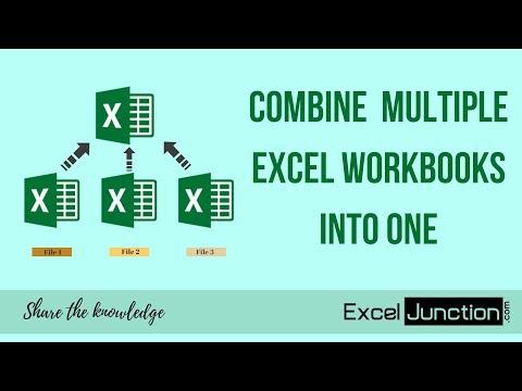 COMBINE Multiple Excel WORKBOOKS into One | ExcelJunction.com