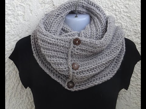 * INFINITY SCARF-VERY EASY PATTERN WITH KNITTING STITCHES*