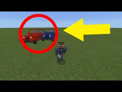 How to Drive Real Cars in Minecraft Pocket Edition ( Minecraft Addon)