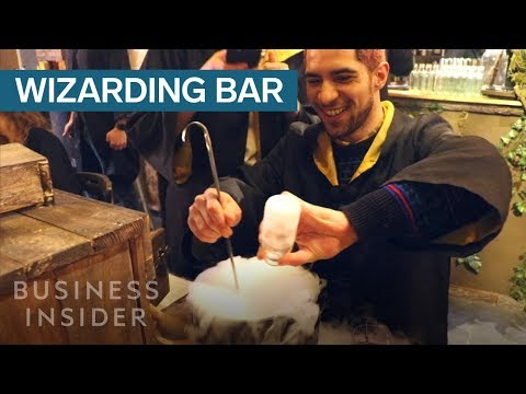 Inside The Harry Potter-Themed Bar Where You Mix Drinks In A Cauldron