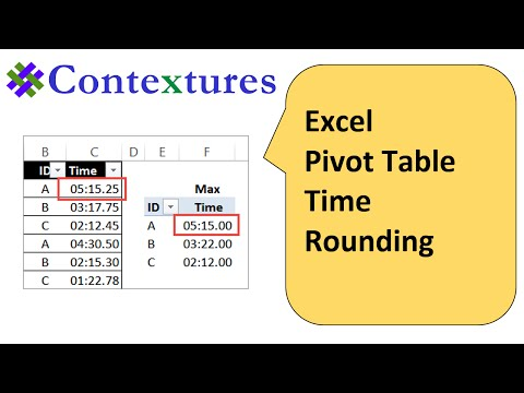 How to Fix Excel Pivot Table Time Rounding