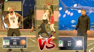 NBA 2k17 MyPARK - 97 OVR Glitcher Gets Exposed in Park Debut! Road to Legend!